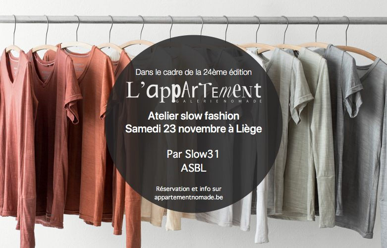 Worshop slow fashion le 23 novembre